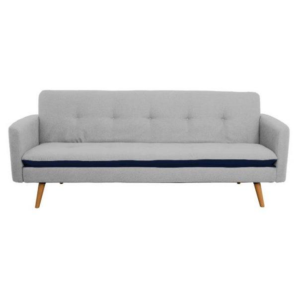Abby Ezy Action Fabric Futon Sofa Bed, Light Grey