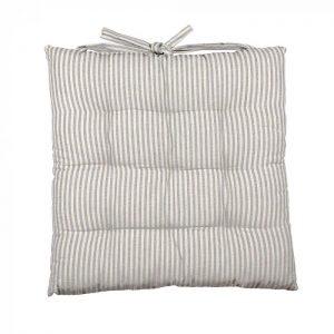 Abby Stripe Fabric Seat Cushion, Light Blue
