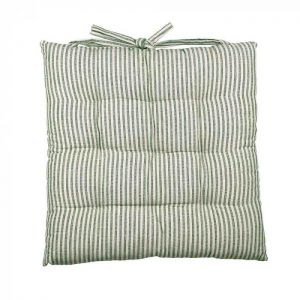 Abby Stripe Fabric Seat Cushion, Olive
