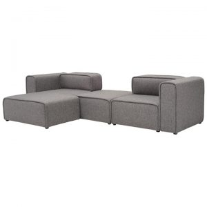 Acura Fabric Corner Sofa, 2 Seater with LHF Chaise, Pebble