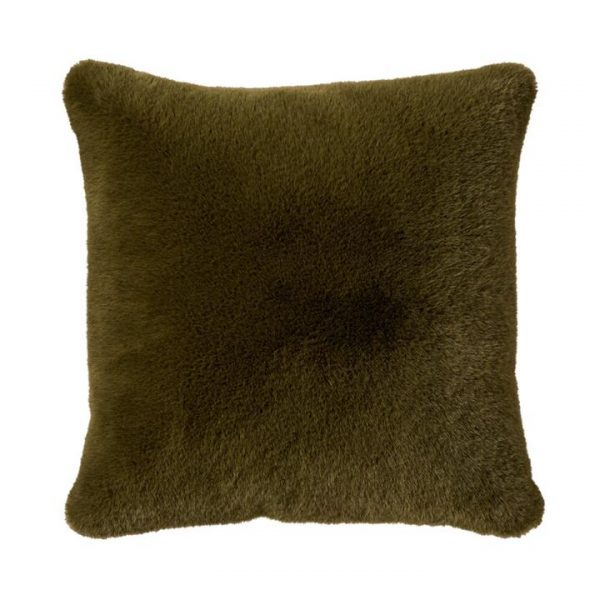 Adairs Astoria Fur Cushion 50x50cm Green