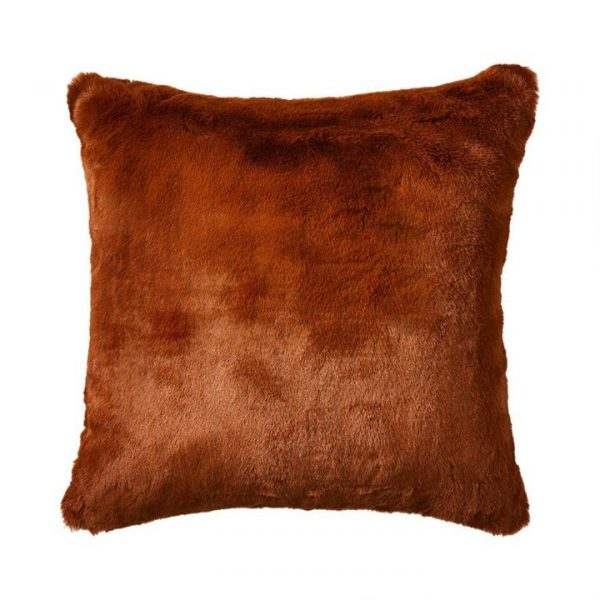 Adairs Astoria Fur Cushion Amber 50x50cm