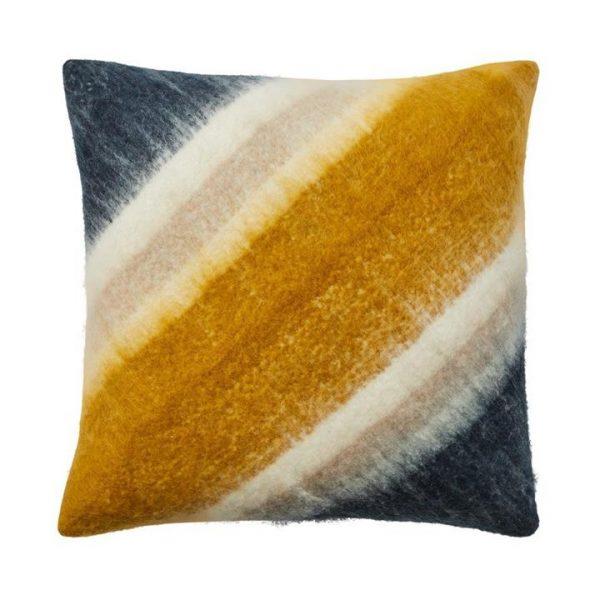 Adairs Avery Cushion Mustard/Navy