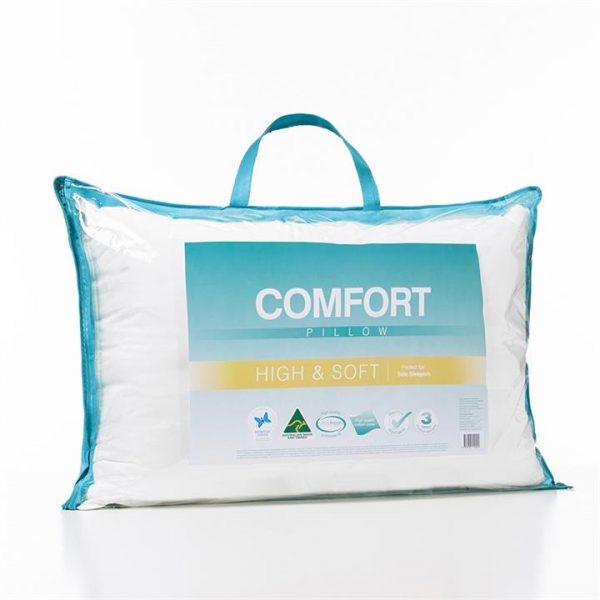 Adairs Comfort Comfort High Soft Pillow - White