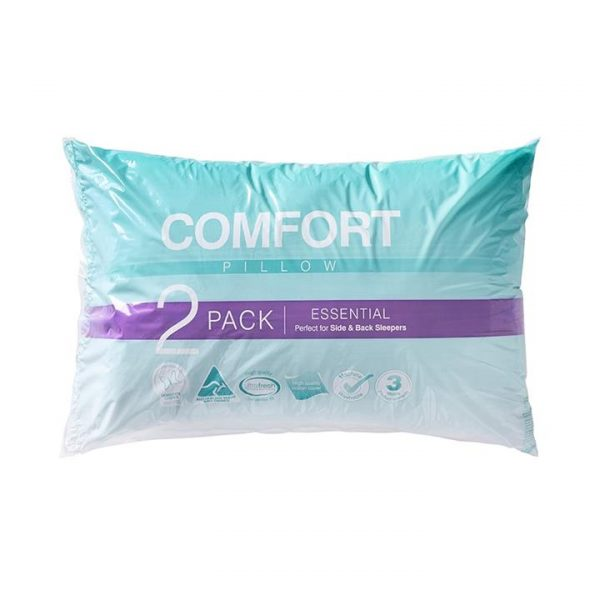 Adairs Comfort Essential Standard Pillow Pack of 2 - White
