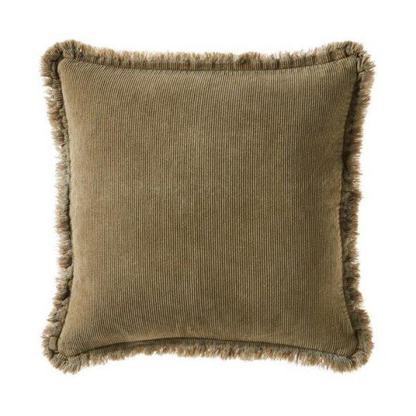 Adairs Corduroy Cushion Aloe Green 45x45cm - Aloegreen