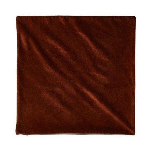 Adairs *Cover Only* Bombay Velvet Cushion Cover 50x50cm Chocolate