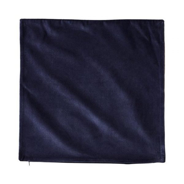Adairs *Cover Only* Bombay Velvet Cushion Cover 50x50cm Navy