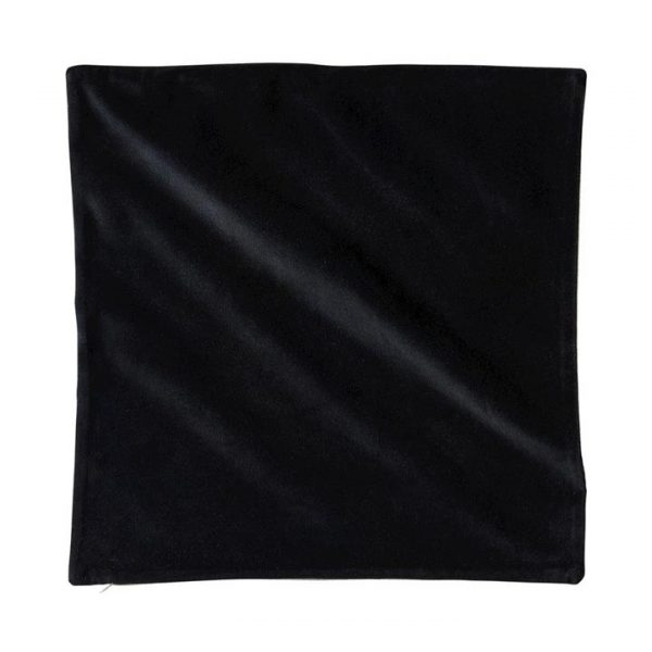 Adairs *Cover Only* Bombay Velvet Cushion Cover 50x50cm Onyx