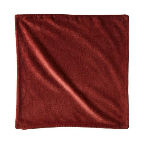 Adairs *Cover Only* Bombay Velvet Cushion Cover 50x50cm Rust