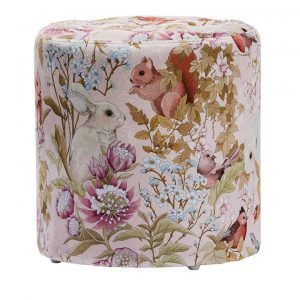 Adairs Kids Fleur Harris Furniture Collection Woodlands Pink Ottoman