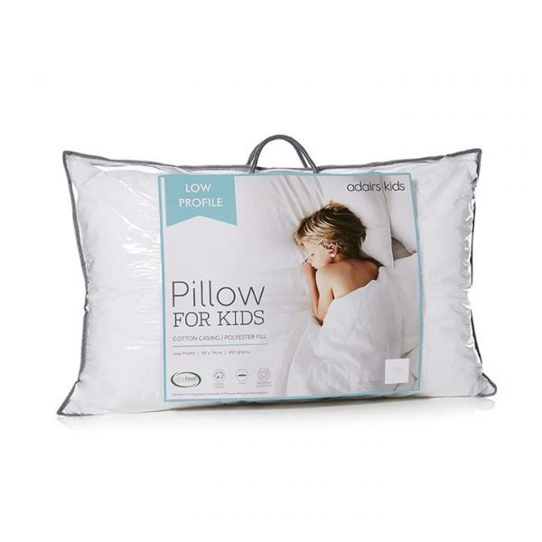 Adairs Kids Pillow Collection Low Profile - White