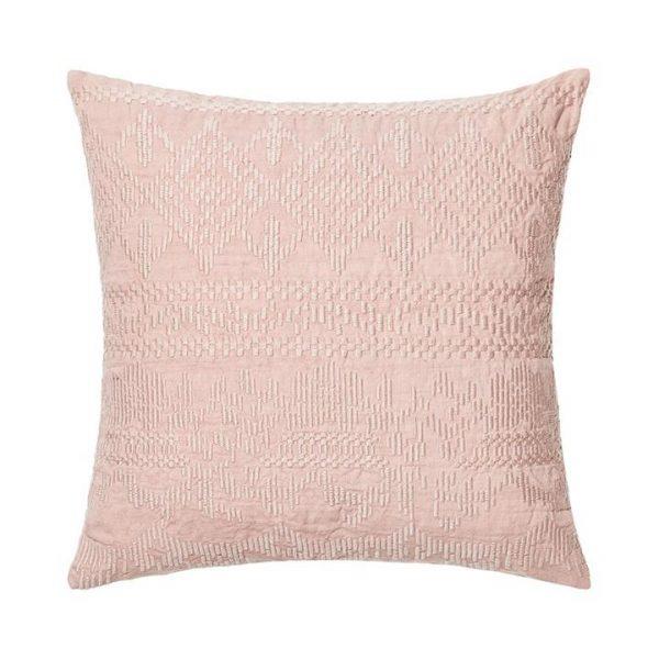 Adairs Madaya Linen Cushion Blush 50x50cm