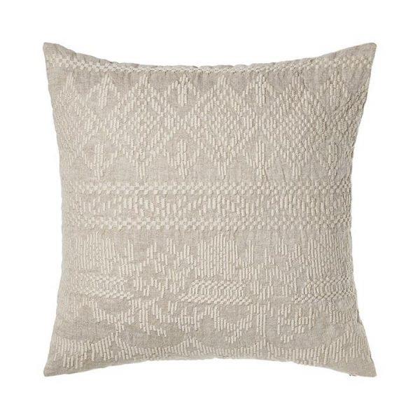Adairs Madaya Linen Cushion S20 Linen 50x50cm