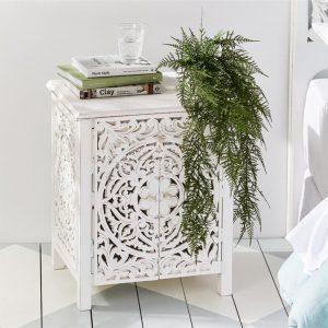 Adairs Merida Bedside Table Vintage White