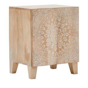 Adairs Sahana Timber Furniture Bedside Table Natural