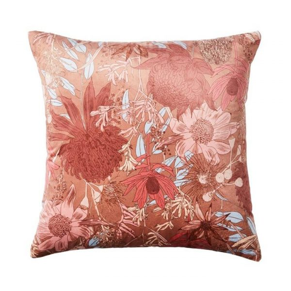Adairs Spring Flora Cushion Clay 50x50cm