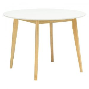 Adina White Round Dining Table