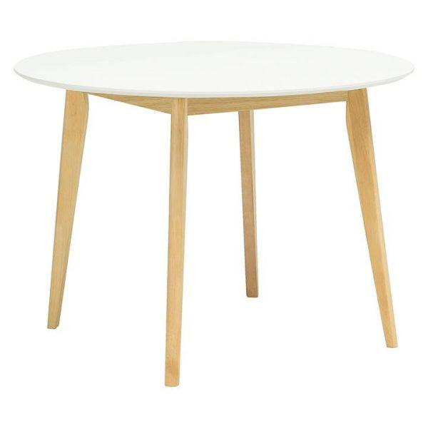 Adina White Round Dining Table