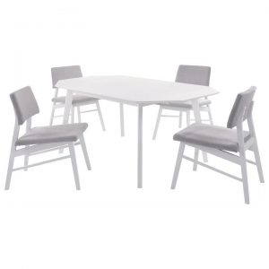 Alaska 5 Piece Dropside Extension Dining Table Set, 61-120cm