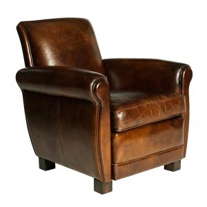 Albert Aged Leather Armchair
