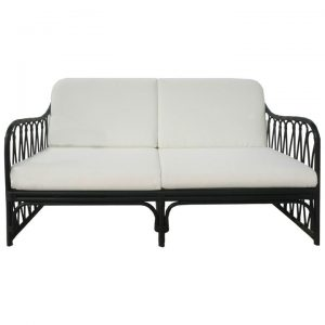 Albion Rattan Sofa, 2.5 Seater, Black