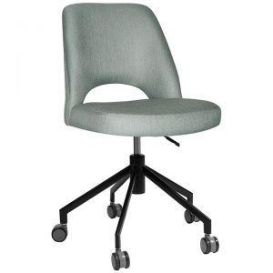 Albury Commercial Grade Gravity Fabric Gas Lift Office Chair, Cloud / Black