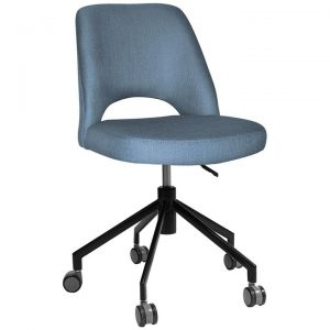Albury Commercial Grade Gravity Fabric Gas Lift Office Chair, Denim / Black