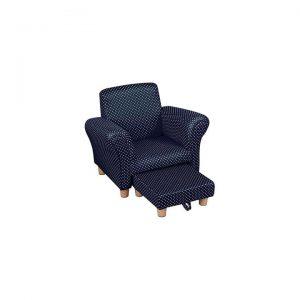 Allon Upholstered Kids Lounge Armchair & Ottoman