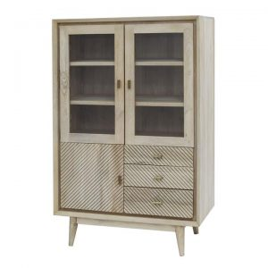 Allura Mango Wood 3 Door 3 Drawer Display Cabinet