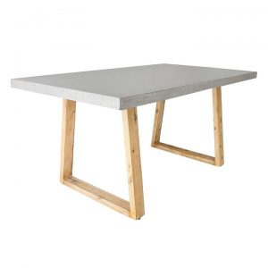 Alta Rectangular Dining Table, Wood Legs