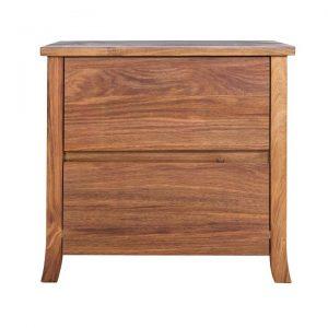 Amaris Blackwood Timber 2 Drawer Bedside Table
