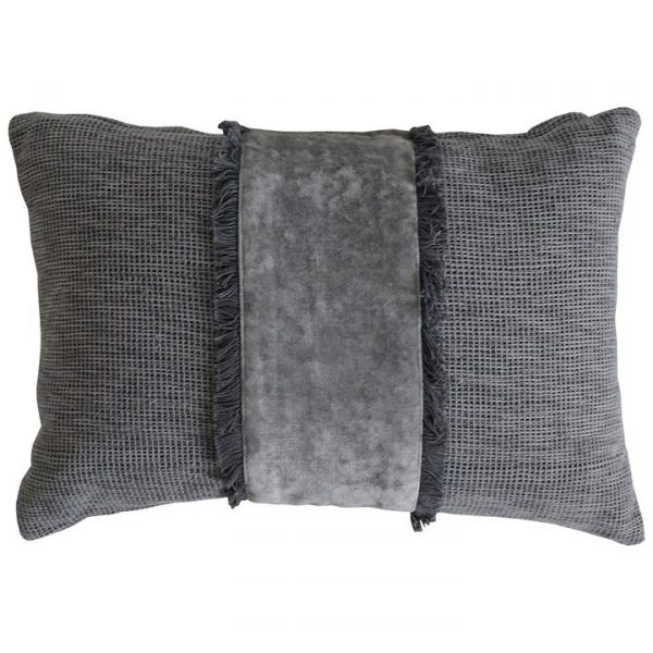 Amariss Cotton Lumbar Cushion, Grey