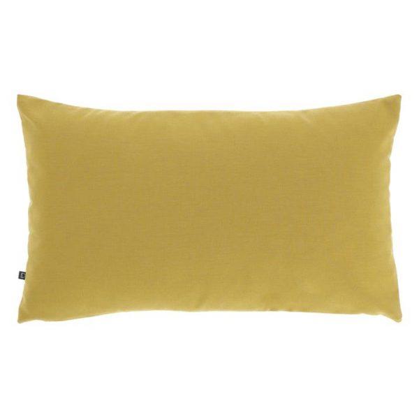 Amold Fabric Lumbar Cushion, Mustard