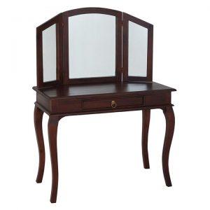 Annalise Timber Dressing Table, Mahogany