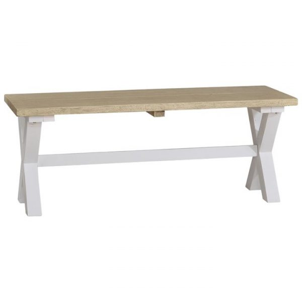 Anvil Mahogany Timber Dining Bench, 120cm