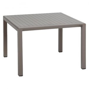 Aria Italian Made Commercial Grade Outdoor Square Coffee Table, 60cm, Taupe