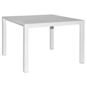 Aria Italian Made Commercial Grade Outdoor Square Coffee Table, 60cm, White