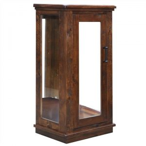 Artemis Pine Timber 1 Door Display Cabinet