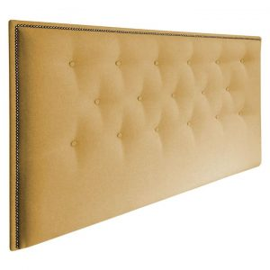 Aubrey Upholstered Bed Head, Timber Legs