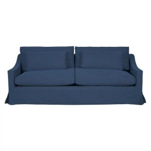 Aveley Fabric Slipcover Sofa, 2.5 Seater, Washed Blue