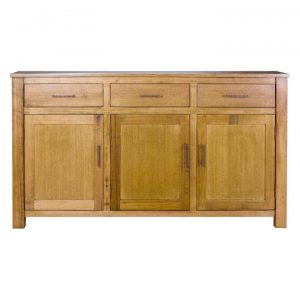 Avoca Tasmanian Oak Timber 3 Door 3 Drawer Buffet Table, 168cm