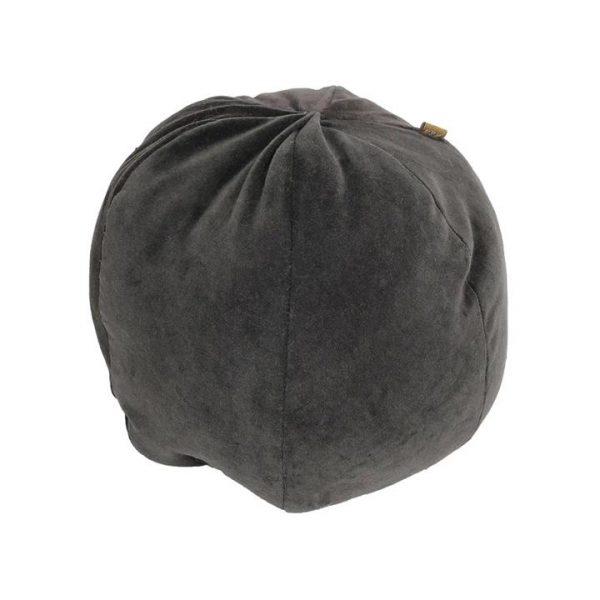 Ballroom Velvet Fabric Ball Cushion, Charcoal