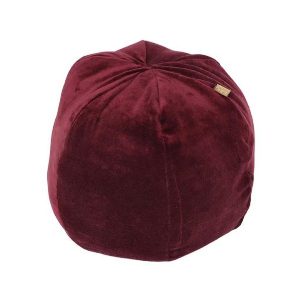 Ballroom Velvet Fabric Ball Cushion, Ruby