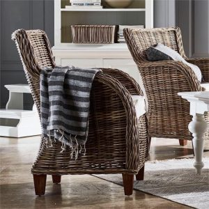 Baron Kubu Rattan Armchair, Set of 2