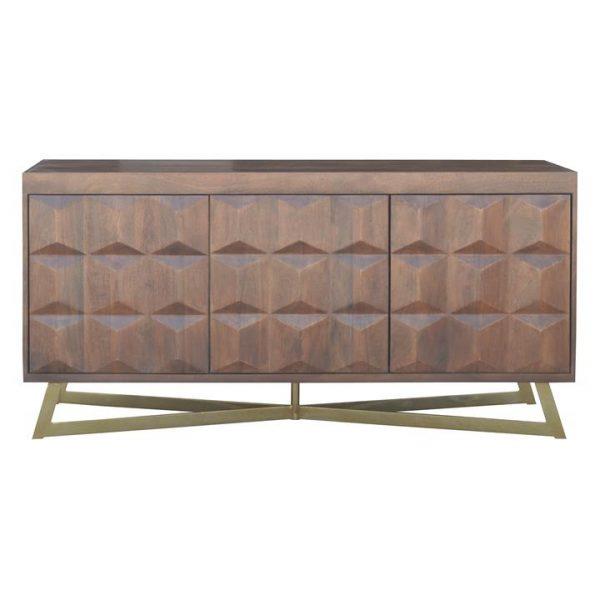 Basile Mango Wood 3 Door Sideboard, 154cm