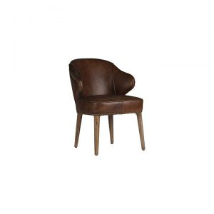 Baton Dining Chair, Leather
