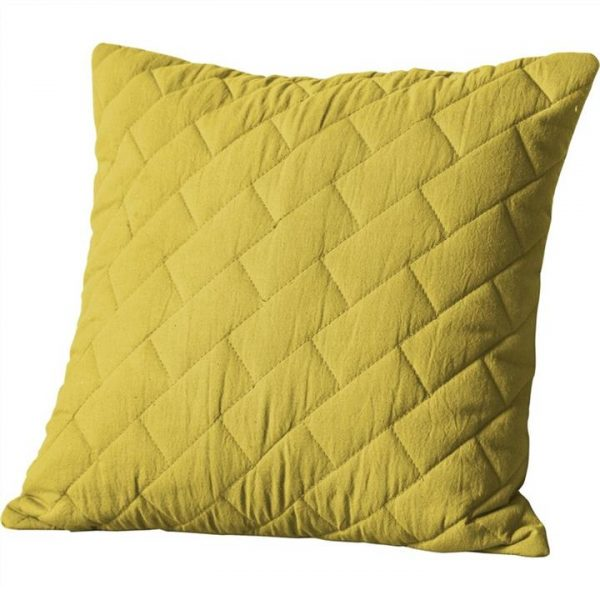 Becky Quilted Cotton Scatter Cushion, Chartresuse