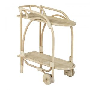 Belize Rattan Drink Trolley