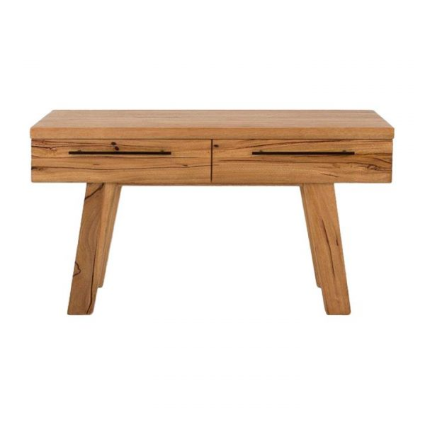 Bendigo Messmate Timber 2 Drawer Console Table, 140cm